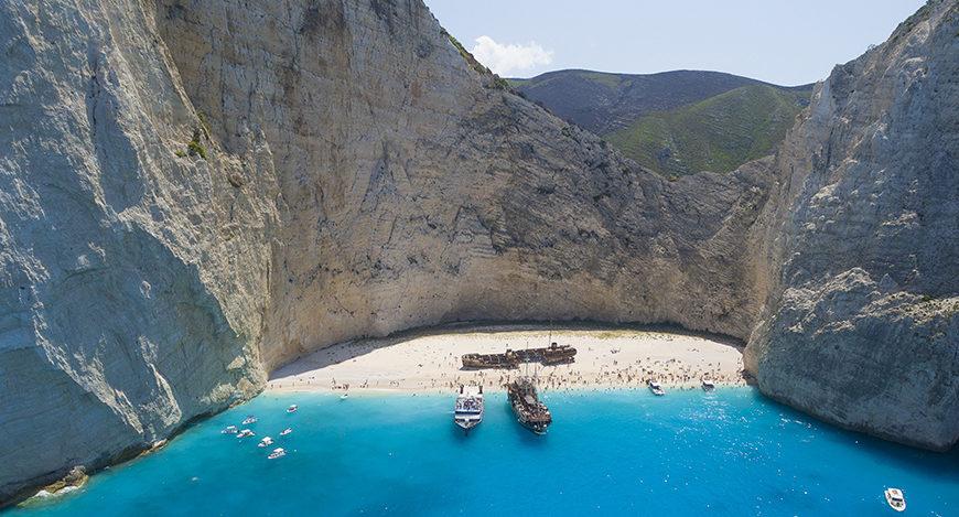 cosavedere spiaggia del relitto Zante